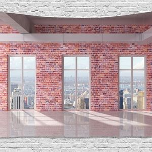 Tapestry Skyscraper View Wall Hanging Backdrop